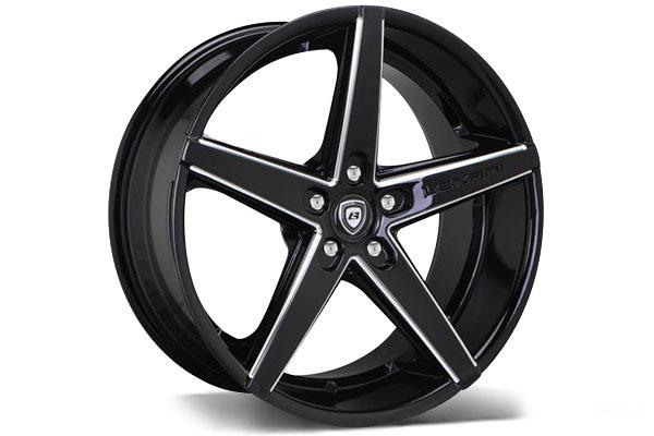 lexani r four black cnc grooved