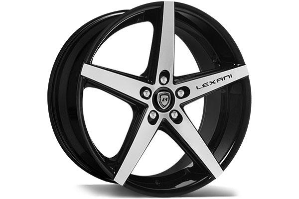 lexani r four black machined wheels