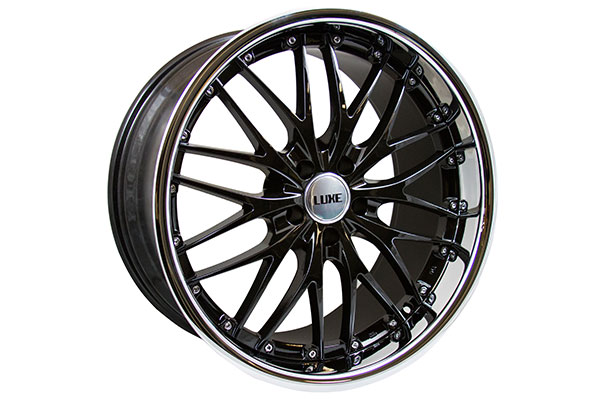 xxr 517 wheels gloss black with polished lip