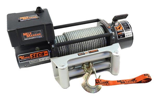 mile marker sec8 es waterproof electric winch