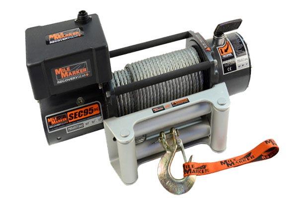 mile marker sec9 5 es waterproof electric winch