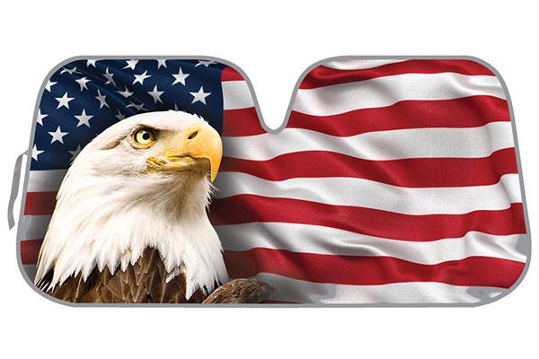 ProZ American Flag Windshield Sun Shade