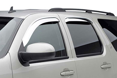 Black Horse Off Road External Mount Chrome Rain Guards