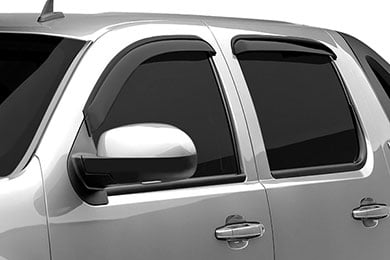 GMC Acadia Black Horse Off Road External Mount Rain Guards