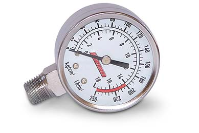 Kleinn Stem Mount Air Pressure Gauge