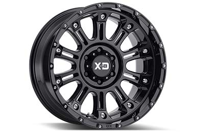 xd series xd829 hoss 2 wheels gloss black hero
