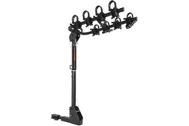 curt extendable hitch mounted bike rack