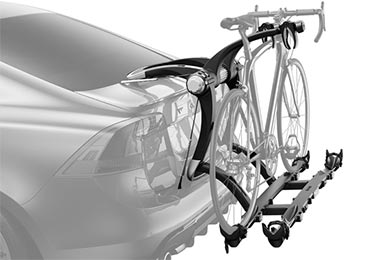 Mazda MX-6 Thule Raceway Platform 9003PRO Trunk Mount Bike Rack