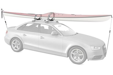 Ford Fusion Whispbar WB401 Saddle Roller Kayak Carrier