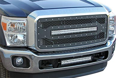 Ford F-350 Rigid Industries LED Mesh Grilles