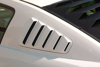 Mach speed abs side window louvers for ford mustangs for 06 mustang rear window louvers