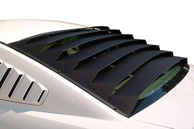 Mach speed aluminum rear window louvers for mustangs for 2000 mustang rear window louvers
