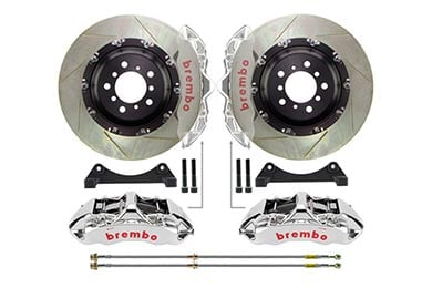 Ford Mustang Brembo GT-R Slotted Big Brake Kit