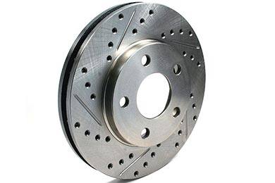 Mini Cooper Centric C-TEK Drilled & Slotted Brake Rotors