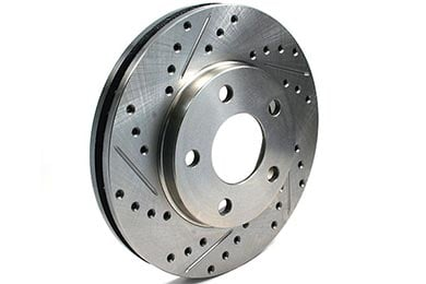 Nissan 350Z Centric C-TEK Drilled & Slotted Brake Rotors