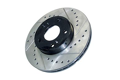 Mini Cooper Centric Premium High Carbon OE Design Drilled & Slotted Brake Rotors