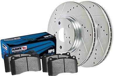 Chevy Malibu Hawk HPS Sector 27 Brake Kit