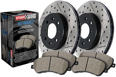stoptech drilled and slotted street brake kit