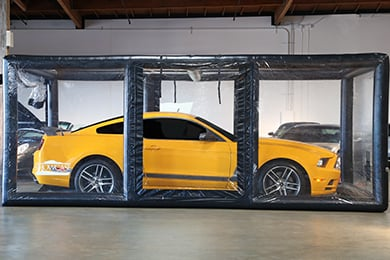 Chevy Corvette CarCapsule ShowCase Indoor Vehicle Storage System