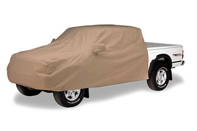 Toyota Tundra Covercraft Tan Flannel Cab Forward to Bumper Cover