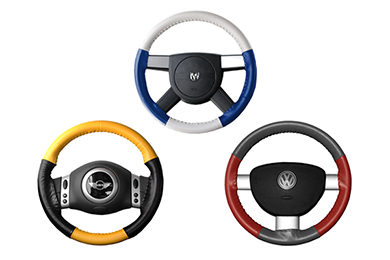 Chevy Trailblazer Wheelskins EuroTone Leather Steering Wheel Covers