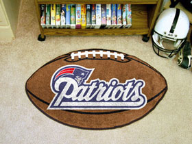 New England Patriots Football Rug