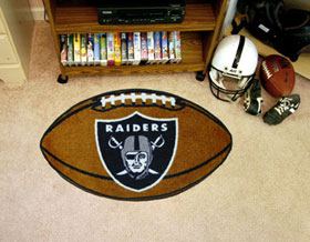 Oakland Raiders Football Rug