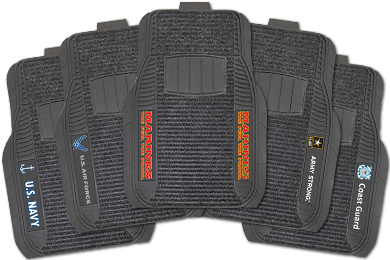 Chevy Corvette FANMATS Military Deluxe Floor Mats