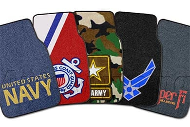 Jeep Wrangler FANMATS Military Logo Carpet Floor Mats