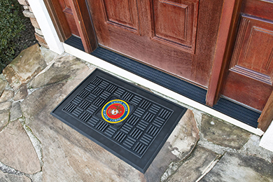 FANMATS Military Medallion Door Mats
