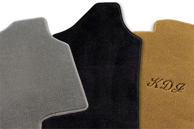 Nylon Carpet Coverking Custom Fit Front Floor Mats for Select Plymouth Barracuda Models Black