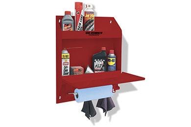 go rhino lockable storage shelf red