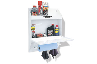 go rhino lockable storage shelf white