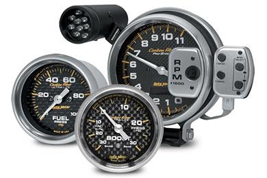 autometer carbon fiber gauges