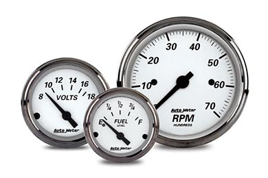 Chevy Corvette AutoMeter Street Rod American Platinum Gauges