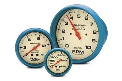GMC Sierra AutoMeter Ultra-Nite Gauges