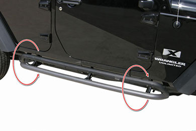 Rampage Retractable Rock Slider Steps