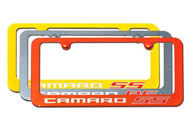 Hyundai Accent Elite Automotive Camaro Paint-Matched License Plate Frames