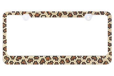 ProZ Leopard Bling License Plate Frame