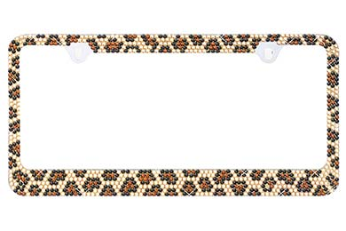 Ford F-250 ProZ Leopard Bling License Plate Frame
