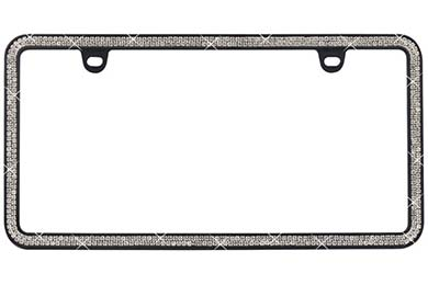 Toyota Matrix ProZ Premium 2 Row Rhinestone License Plate Frame