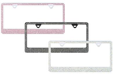proz premium 5 row rhinestone license plate frame