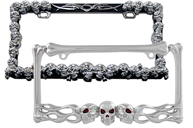 Honda Element ProZ Skull License Plate Frame