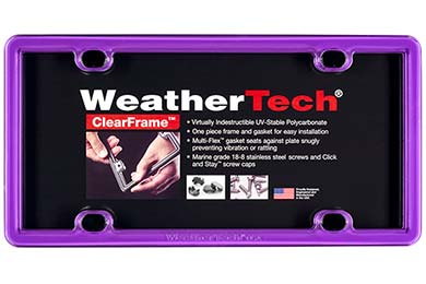 Porsche Panamera WeatherTech ClearFrame License Plate Frame