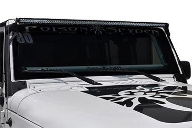 poison spyder windshield light bar mounts