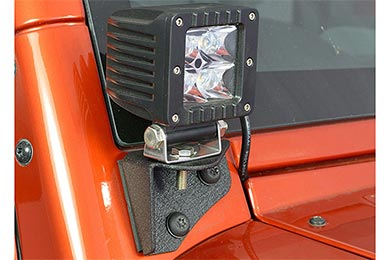 Jeep Wrangler ProZ A-Pillar Light Mounts