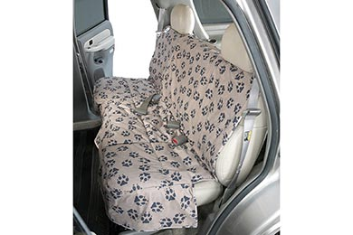 Hyundai Accent Canine Covers Crypton Paw Print Custom Suede Seat Covers