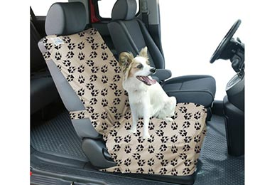 Hyundai Accent Canine Covers Crypton Paw Print Semi-Custom Suede Bucket Seat Cover