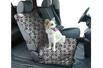 Acura RL Canine Covers Crypton Paw Print Semi-Custom Suede Bucket Seat Cover