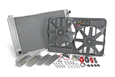 Oldsmobile Achieva Flex-a-lite Universal Aluminum Radiator & Electric Cooling Fan